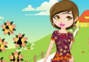 เกมส์แต่งตัวสาวเดินชมดอกไม้