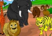 เกมส์ระบายสีสัตว์ในสวนสัตว์