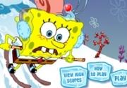 เกมส์สปองบ๊อบเล่นสกี้หิมะ