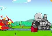เกมส์รถถังหุ่นยนต์ทำลายเมือง