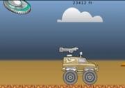 เกมส์ขับรถไล่ยิงจานบิน