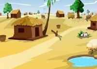 เกมส์หนีออกจากหมู่บ้านแห้งแล้ง