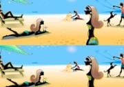 เกมส์จับผิดภาพพักร้อนชายหาด